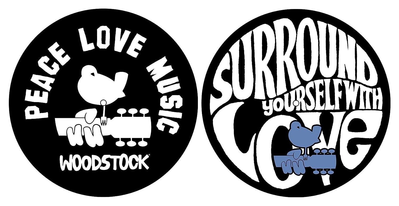 Woodstock Peace Love Music Turntable slipmat Lot
