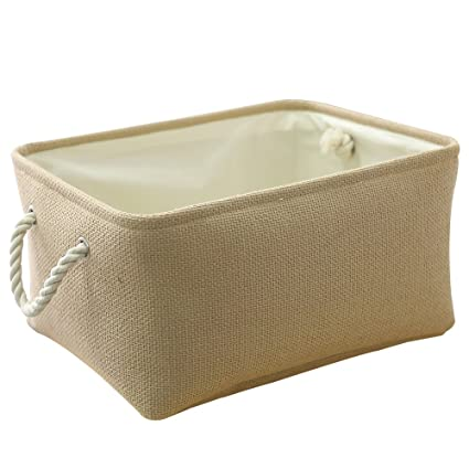 Superieur Amazon.com   TheWarmHome Decorative Basket Rectangular Fabric Storage Bin  Organizer Basket With Handles For Clothes Storage (Beige, 15.7L11.8W8.3H)