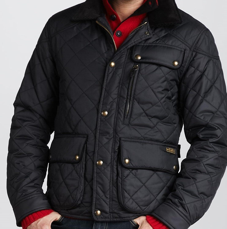 Polo Ralph Lauren Cadwell Quilted Bomber Mens Jacket Black Small  # Muebles Ralph Lauren Espana
