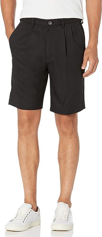 Haggar Men's Pleated Shorts: Amazon.co.uk: Clothing