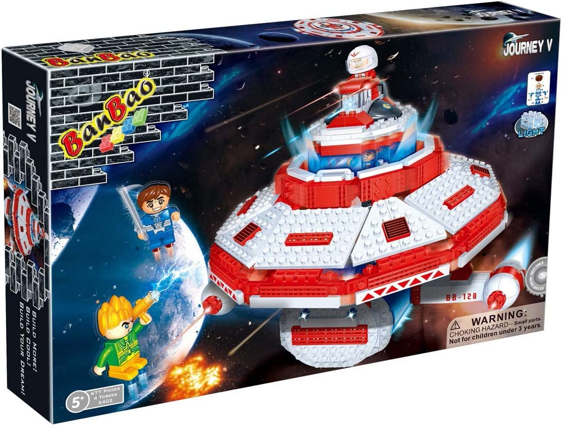 Best Selling 677 Piece Spaceship 4 Tobee Mini Figures You Can Use With Major Brands A Creative Xmas Or Birthday Gift Ideas For Boys Age 5 Amazon Co Uk Toys Games