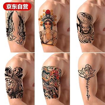 Etiqueta engomada del tatuaje a prueba de agua Hombre Mujer Pierna ...