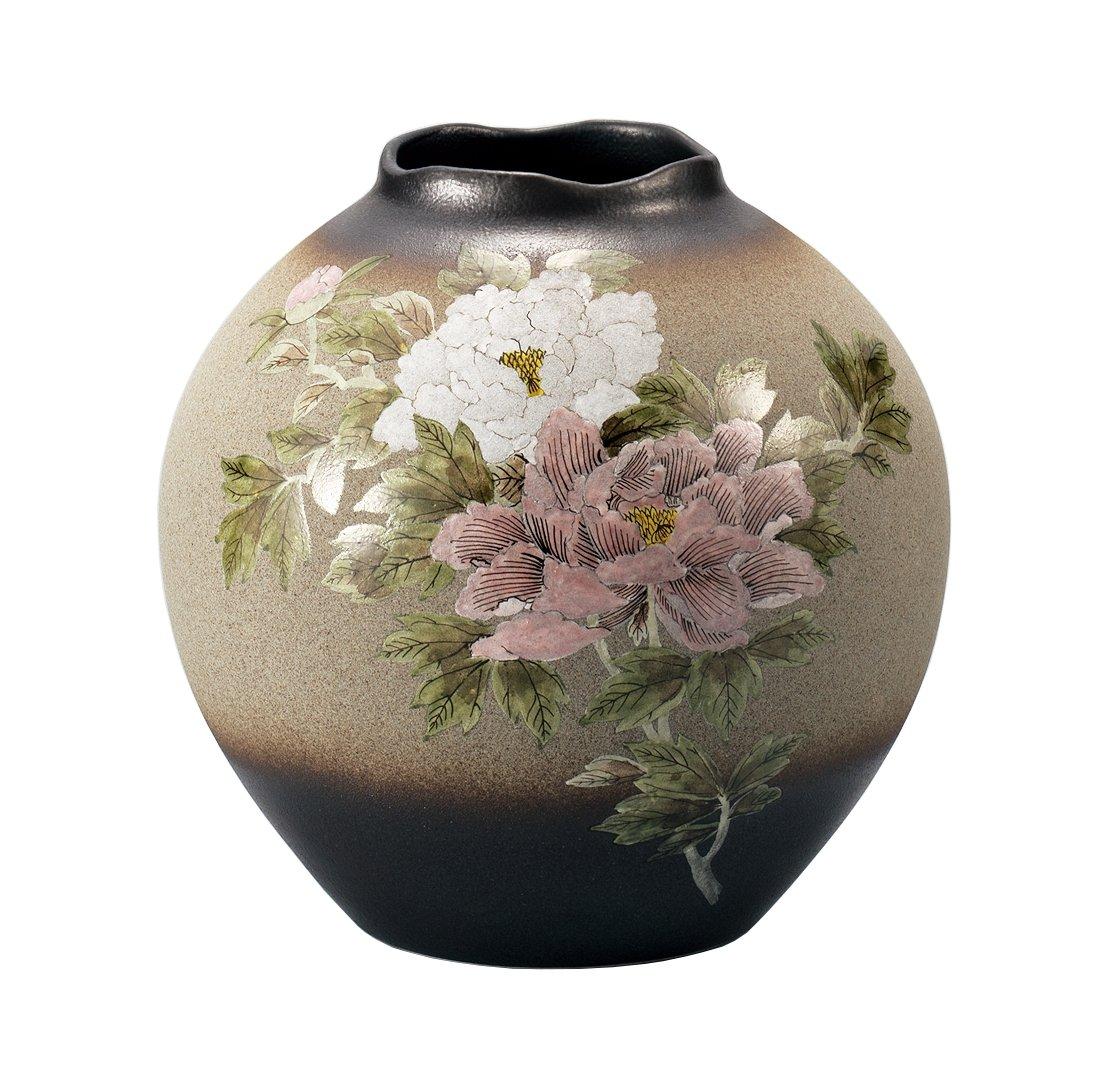 マルサン宮本 九谷焼 花器 8号花瓶 牡丹 AP3-1055 B01HXQJA6I