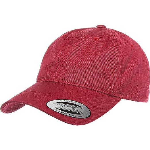 33bd6829579 Flexfit Yupoong 6245CM Low Profile Cotton Twill (Dad Cap) (Cranberry ...