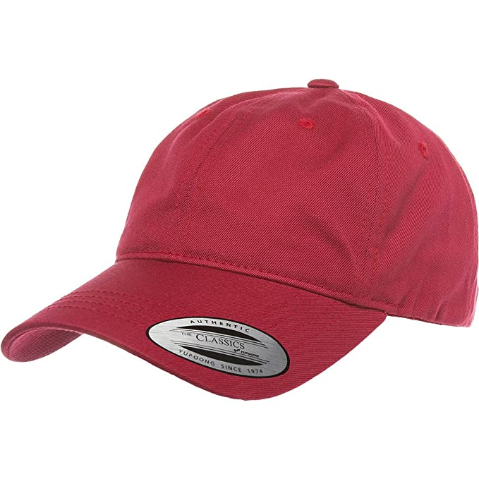 a634f72e2e5 Flexfit Yupoong 6245CM Low Profile Cotton Twill (Dad Cap) (Cranberry ...