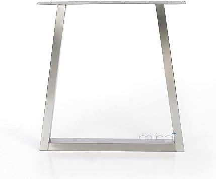 mina concept Mesa Estructura Acero Inoxidable Diseño Trapezoidal ...