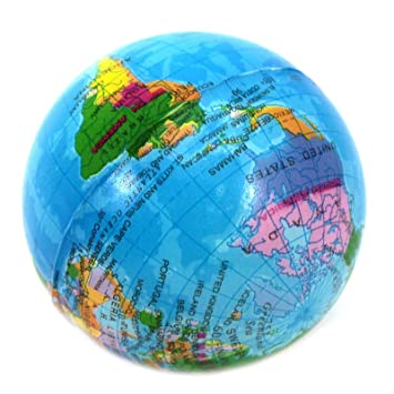Foreveryang soft foam sponge world map earth globe shape ball for foreveryang soft foam sponge world map earth globe shape ball for kids children toy play fun gumiabroncs Gallery