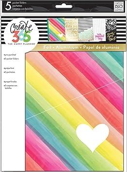 Me /& My Big Ideas Happy Planner Embellished Folders Mini Multi Dots