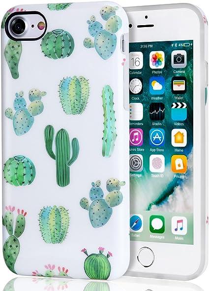 Amazon Com Cactus Iphone 7 Case Iphone 8 Case White Green Best