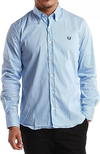 Fred Perry - Camisa formal - para hombre Multicolor Blanco / Azul Claro XX-Large: Amazon.es: Ropa y accesorios