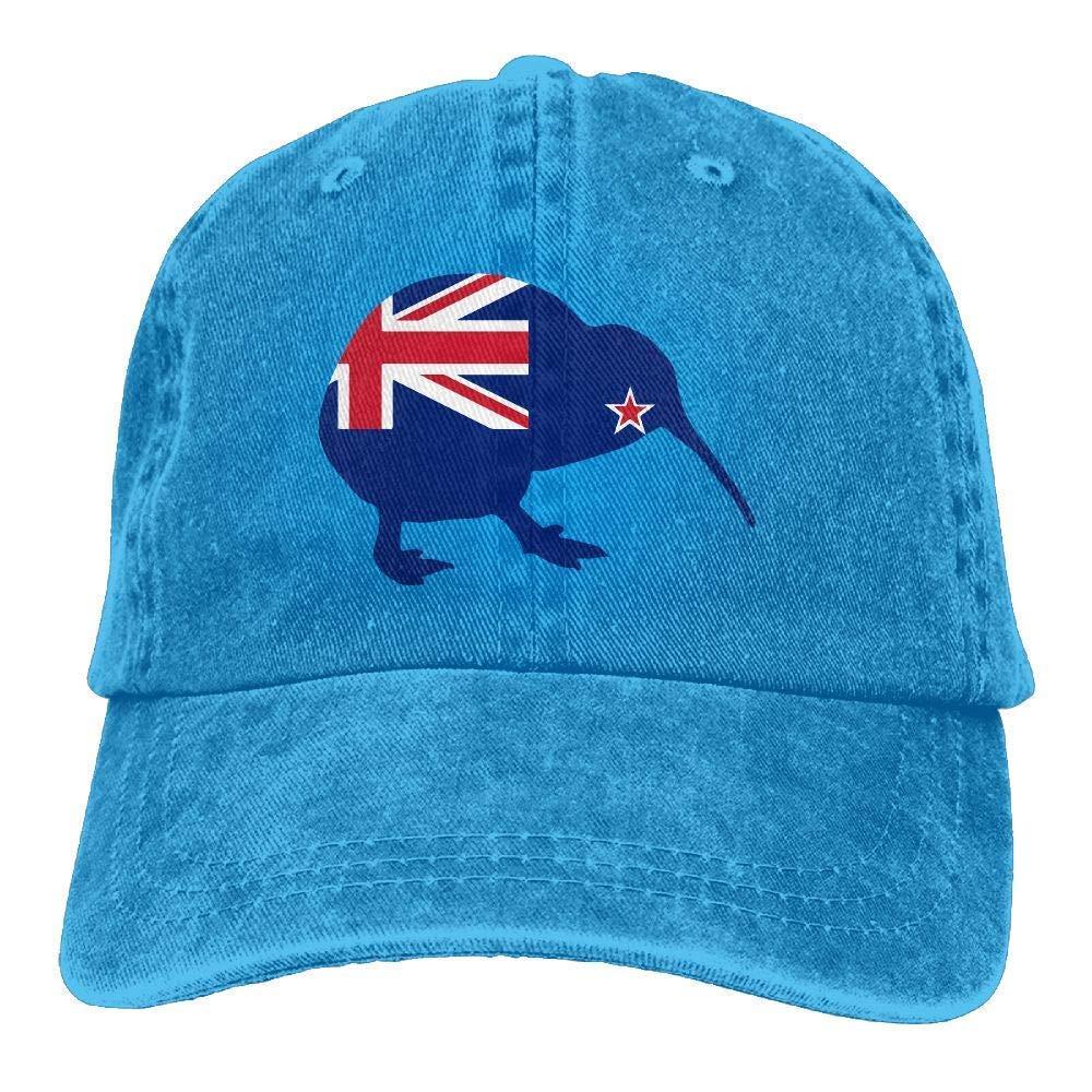 deyhfef Unisex Baseball Cap Hat New Zealand Flag Kiwi Washed Denim Dad Hat for Women