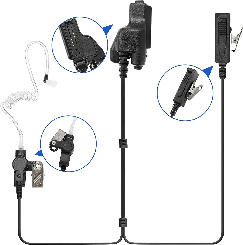 2-Wire Tube Earpiece Headset Mic for Motorola XTS2250 XTS4250 XTS3000 XTS3500