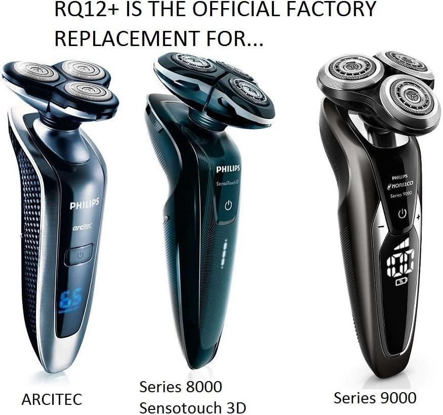 Cabezales de afeitado RQ12 + funda de recambio para afeitadoras ...