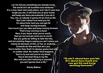 Motivational Rocky Balboa 23 Boxing Quotations A3 Poster