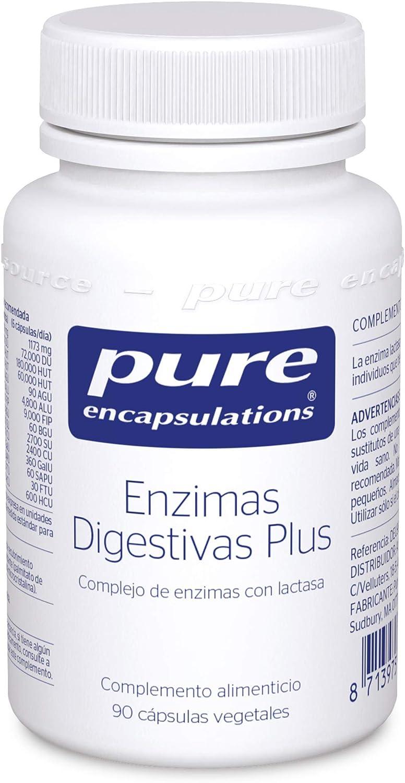Pure Encapsulations - Enzimas Digestivas Plus - Complejo de Enzimas con Lactasa - Soporte en la Digestión de Proteínas, Grasas, Fibras Vegetales y ...