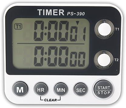Canal de Doble Pantalla LCD Digital Portátil Reloj Alarma ...