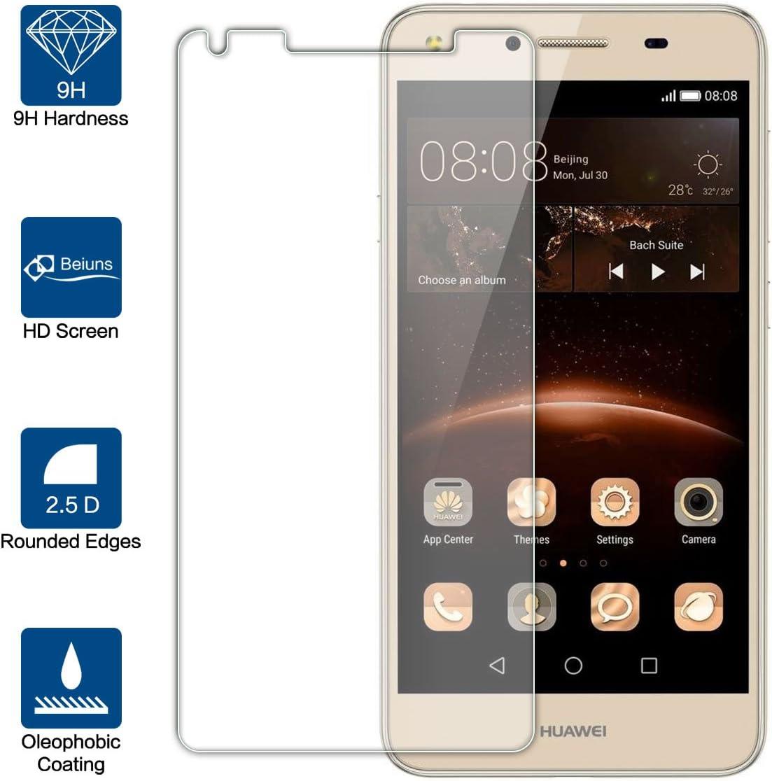 Beiuns para Huawei Y5 II (5 Pulgadas) Vidrio Templado Protector de ...