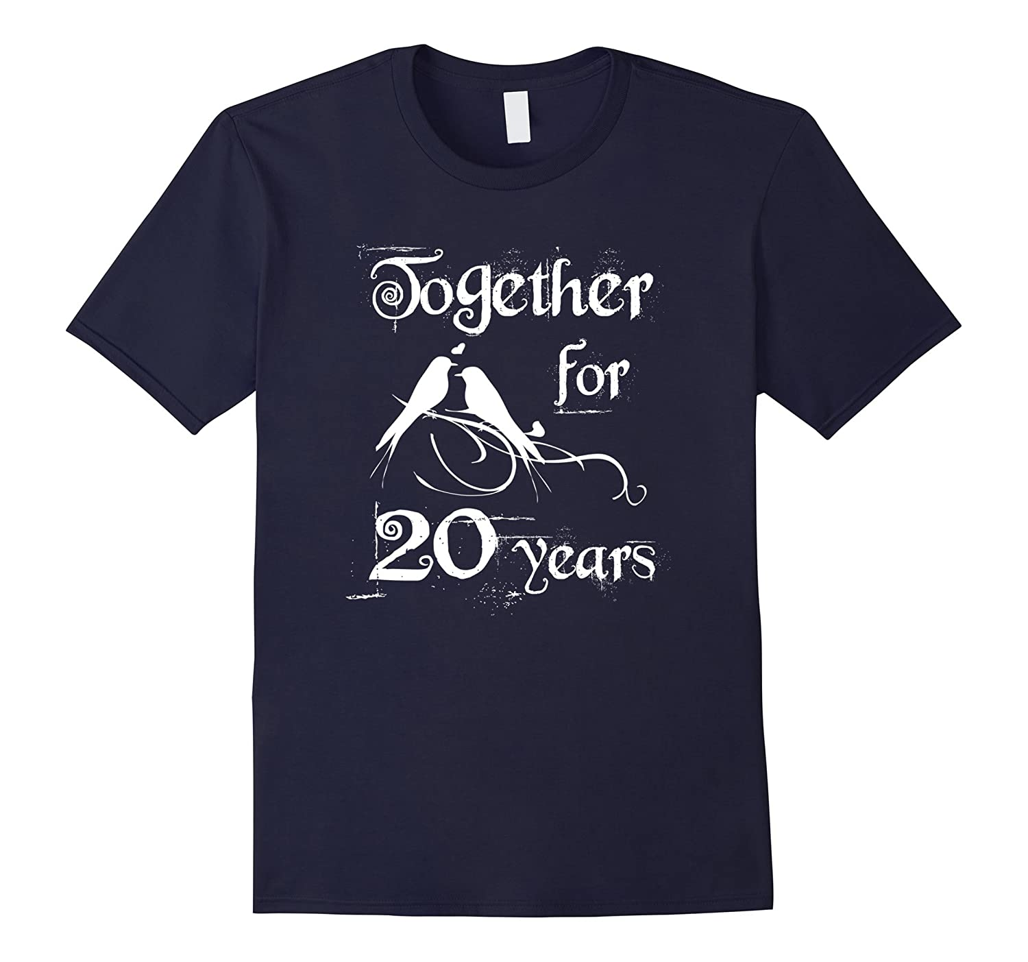 20th Wedding Anniversary Together For 20 Years T-shirt-CD