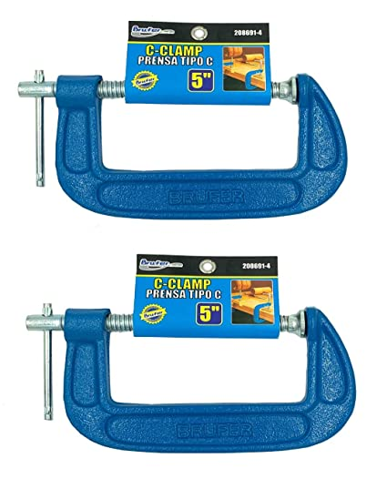 HEWEGO Malleable Steel C-Clamp,Heavy Duty C-Clamp with Wide Jaw Openings and T-Bar Handle for Quick /& Easy Fitting 4 inch