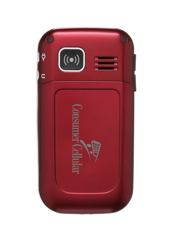 Amazon com: Doro 410 Burgundy (Consumer Cellular): Cell