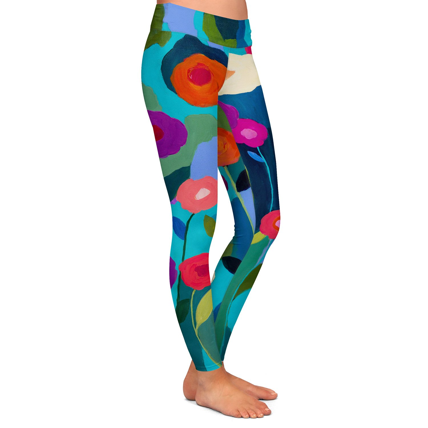 Good Morning Sunshine Athletic Yoga Leggings from DiaNoche by Carrie Schmitt
