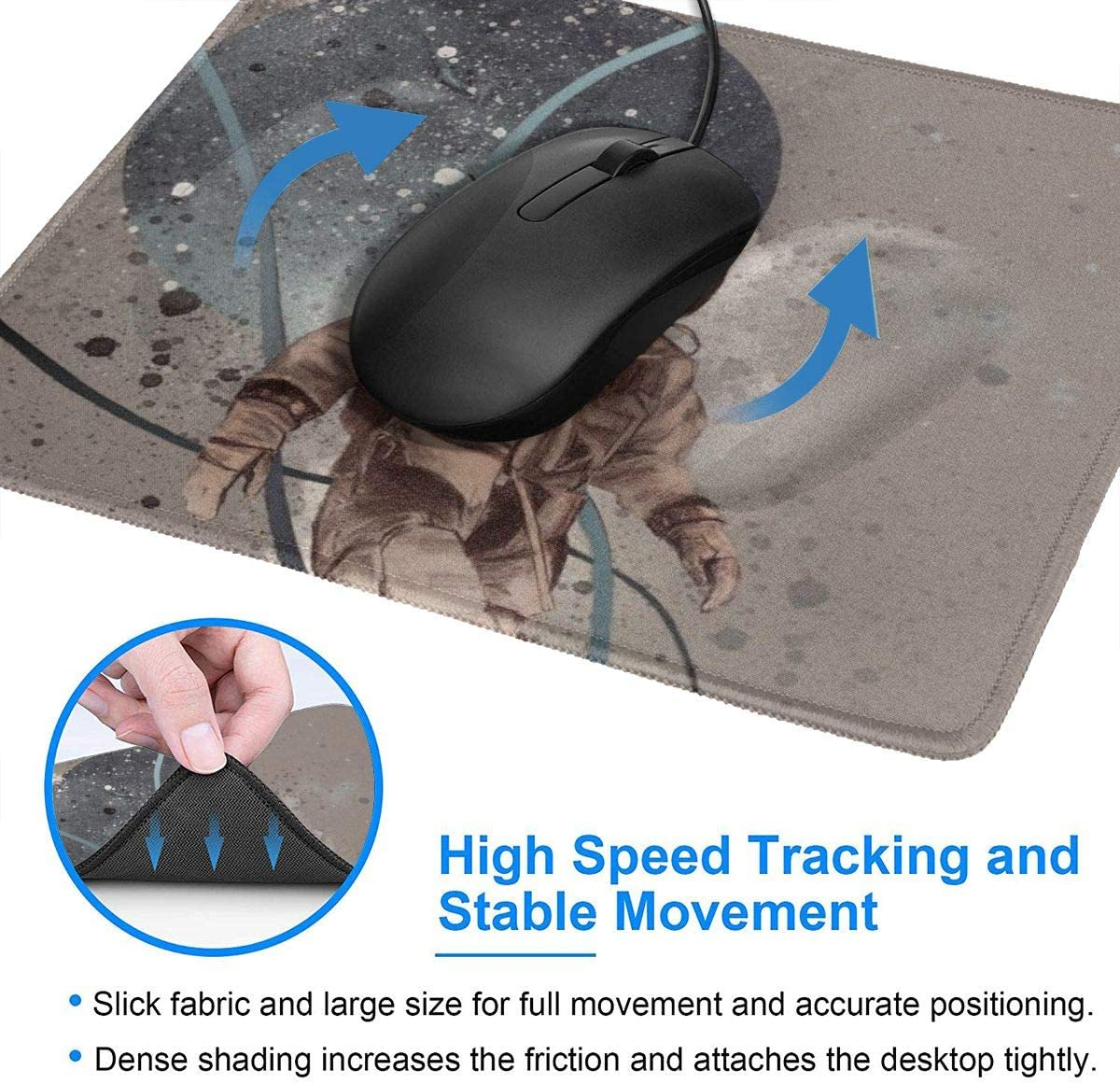 Gaming Mouse Pad Mouse Mat for Gift Support Wired Wireless Or Bluetooth Mouse 8.3 X 10.3 in X 0.12 Human Anatomy Heart Rectangle Rubber Mousepad 3mm Thick