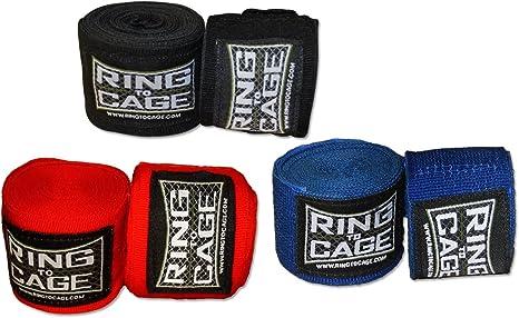 Ring to Cage Boxeo y MMA Mexicano elástico Handwraps 180 cm de Largo – Pack de 3 Pares: Amazon.es: Deportes y aire libre