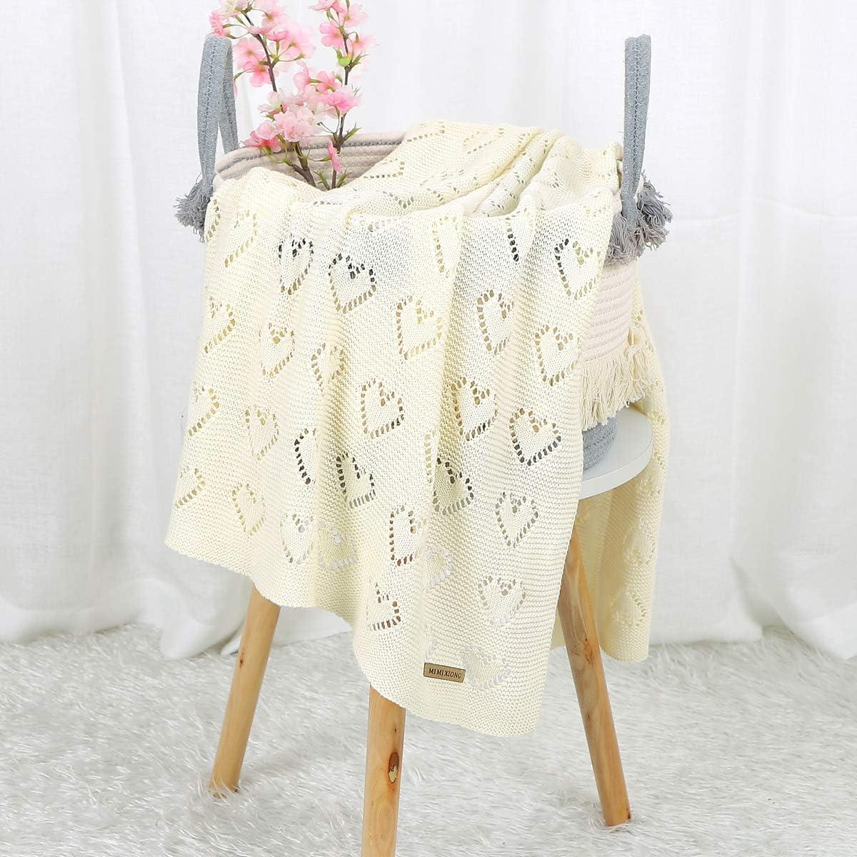 beige beige Talla:Baby mimixiong 100/% algod/ón, 100 x 80 cm Manta para beb/é