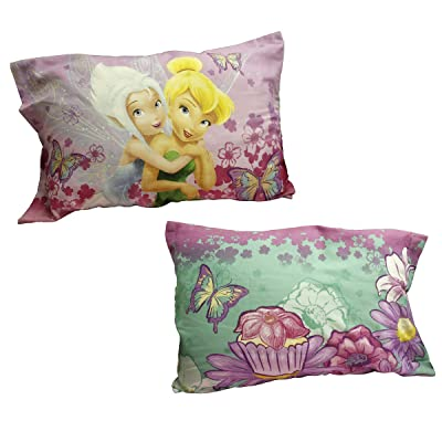 2pc Disney Fairies Pillowcase Set Sweet Tinkerbell and Periwinkle Bedding Pillow Covers