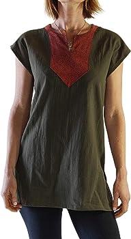 zootzu Astrid Camisa de Disfraz de Vikingo Medieval para Mujer, Pixie, Steampunk - Verde - Medium: Amazon.es: Ropa y accesorios