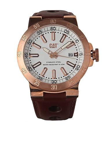 Caterpillar YP.191.35.229 - Reloj de pulsera hombre, piel, color marrón: Amazon.es: Relojes
