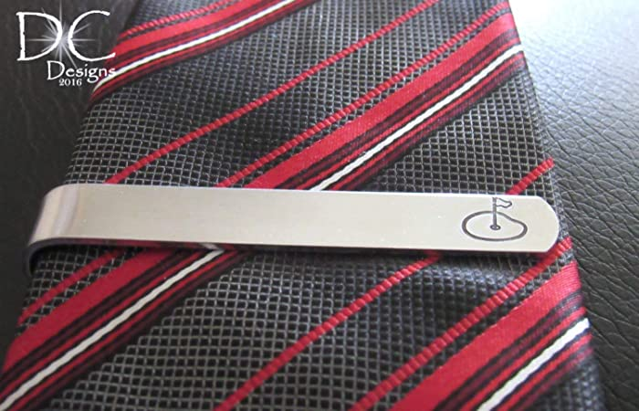 762f98335480 Amazon.com: Golf Tie Clip, Golfer Tie Clip, Tie Clips for Men, Christmas  Gifts for Boyfriend: Handmade