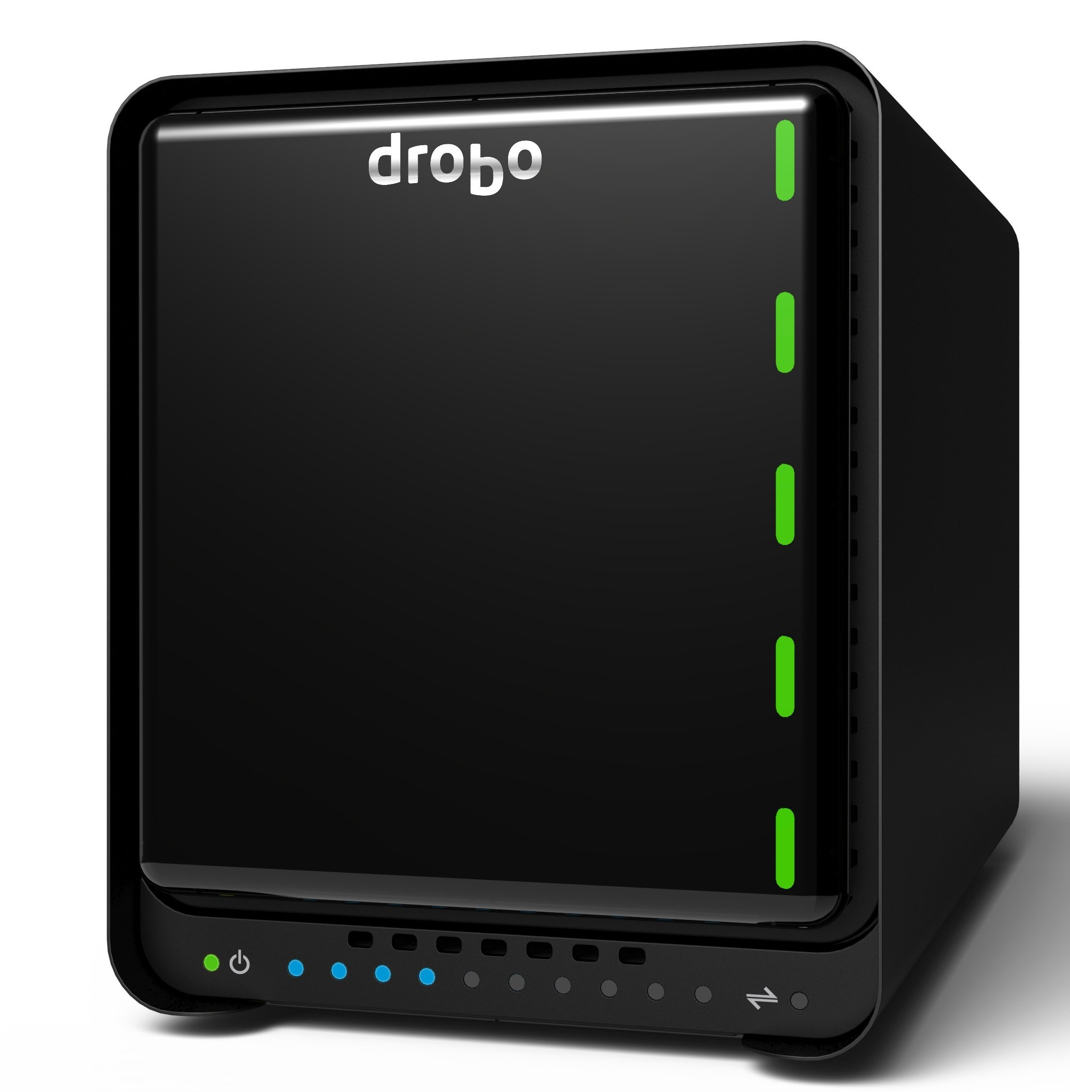 Drobo 5D3 5-Drive Direct Attached Storage (DAS) Array – Dual Thunderbolt 3 and USB 3.0 Type-C ports (DRDR6A21) by Drobo
