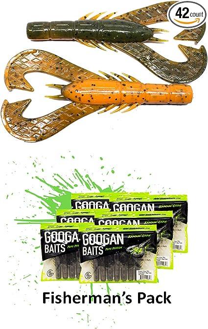 Googan Baits Krackin/' Craw 7-Pack Select Color