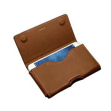 Lucrin - Etui ceinture pour iPhone 7 Plus - Cognac  Amazon.fr  High-tech a56b6c20965