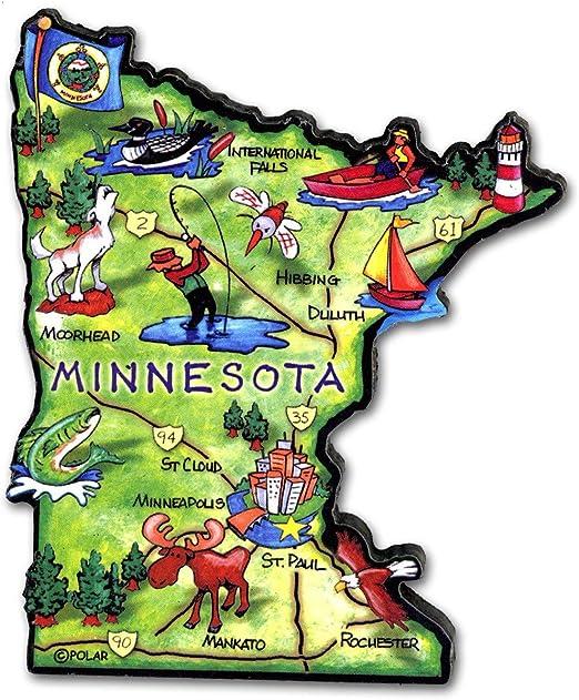 Minnesota Land of Lakes State Fridge Magnet