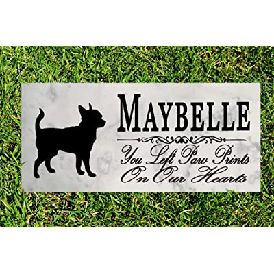 Broad Bay Chihuahua Dog Memorial Personalized Stone Marker Gift Custom Garden Marker Memory Sign Outdoor Grave Headstone: Kitchen & Dining