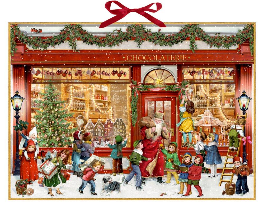 Coppenrath The Chocolate Shop Huge Traditional German Advent Calendar 52 cm wide x 38 cm