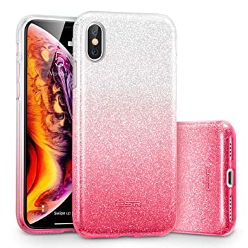 ESR Funda para iPhone XS MAX Blindada Brillante[Protección a Bordes y Cámara] [