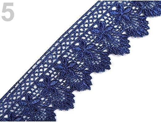 12.5 m Paris Azul de Encaje Apliques de Coser, Recortar el Ancho ...