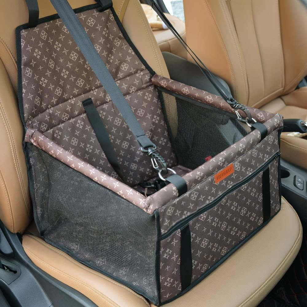 sedili portatili Seggiolino per auto rinforzato per animali domestici per cani e gatti pieghevoli e traspiranti per animali domestici con cintura di sicurezza DY/_Jin