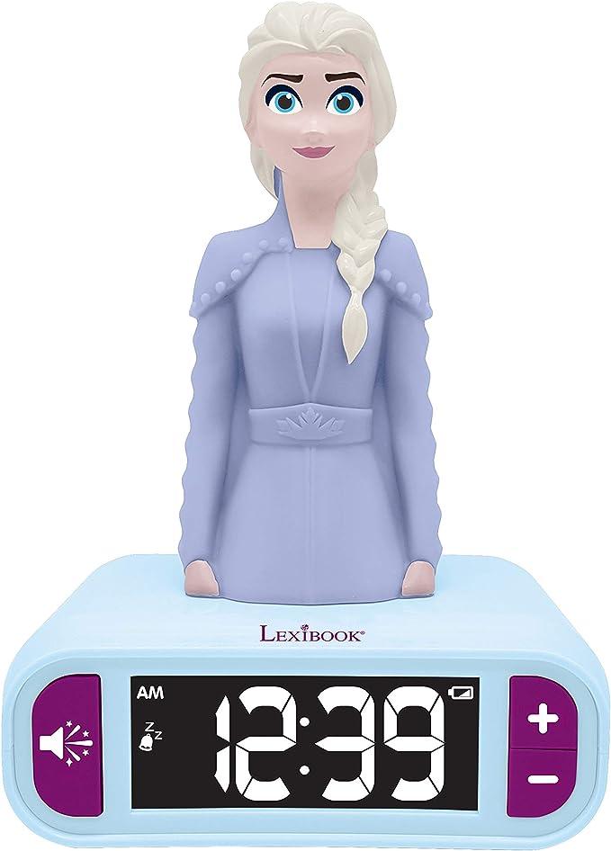 Amazon.es: LEXIBOOK- Disney Frozen 2 Elsa-Reloj Despertador con ...