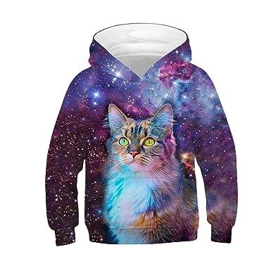 b2b0a8ccd8 Amazon.com  ❤ Mealeaf ❤ Kids Boys Girls Hoodies Sweatshirt 3D ...