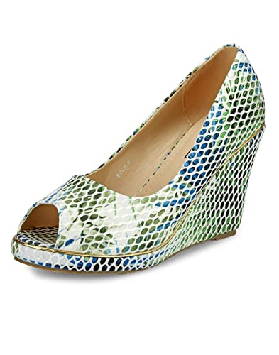 8e06920c1656b Yepme Blue & Green Wedges -- YPWFOOT9505_9: Buy Online at Low Prices ...