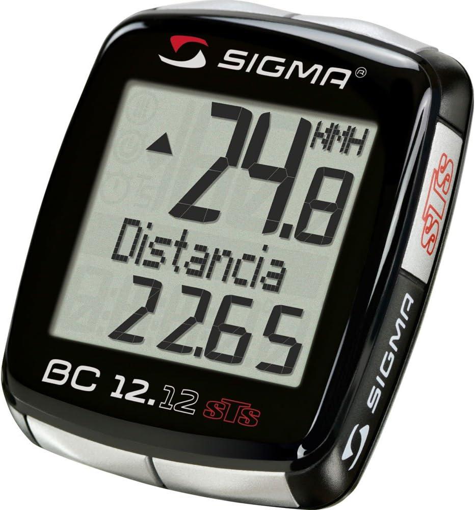Sigma Fahrradcomputer Top Line BC 12.12 STS Cuentakilómetros ...