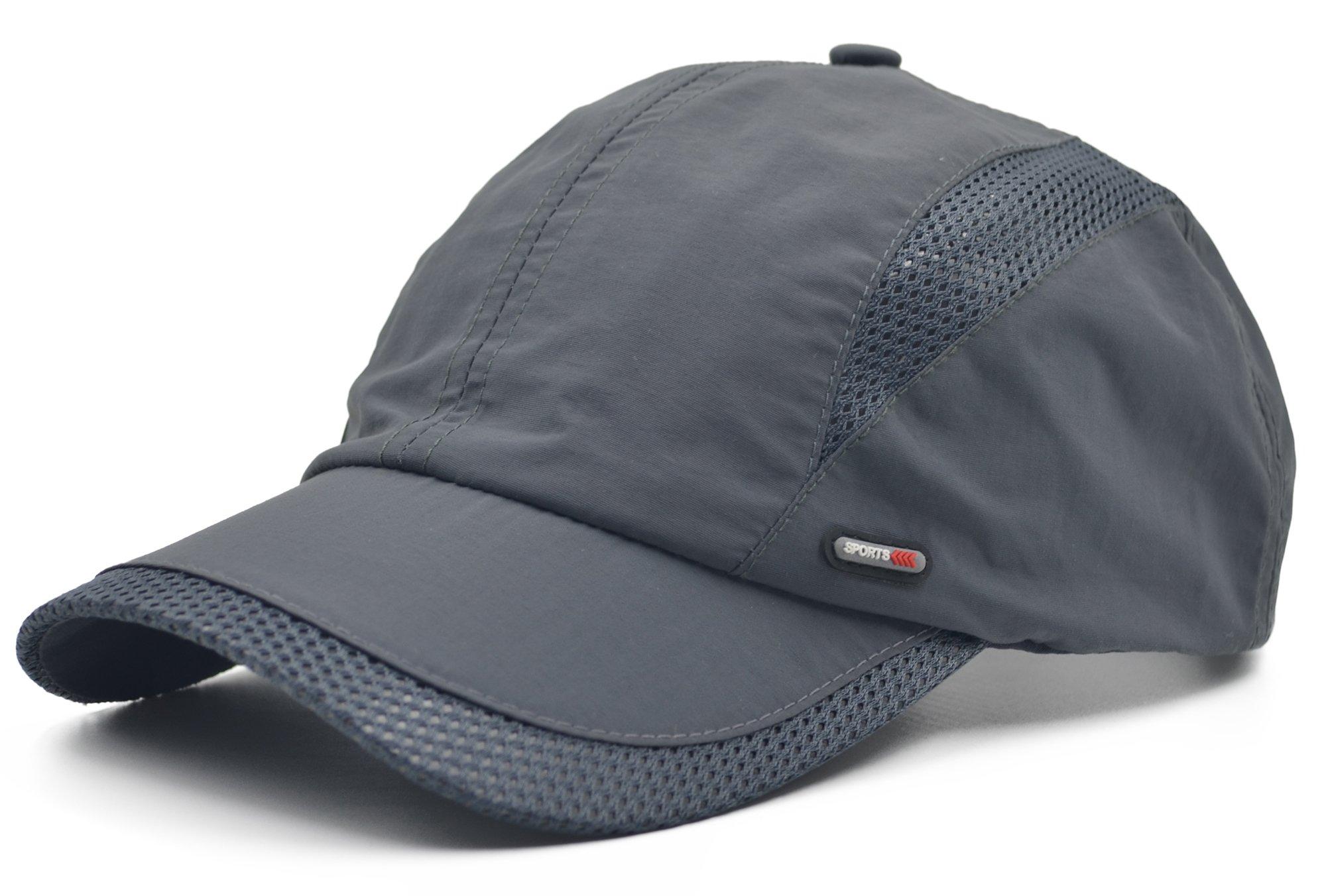 Melesh Adjustable Summer Mesh Golf Outdoor Sport Visor Fishing Baseball Hat Cap (Gray)