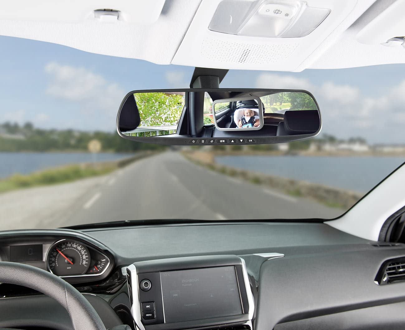 Babyspiegel Auto, Rückspiegel Lescars Babyspiegel Baby-Spiegel fürs Auto