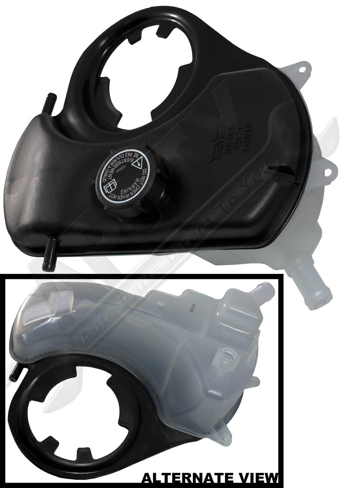 APDTY 714196 Coolant Reservoir Fluid Overflow Plastic Bottle Housing & Cap Fits 2002-2008 Jaguar X-Type (Replaces C2S-46861, C2S46861, MJA4440BA)
