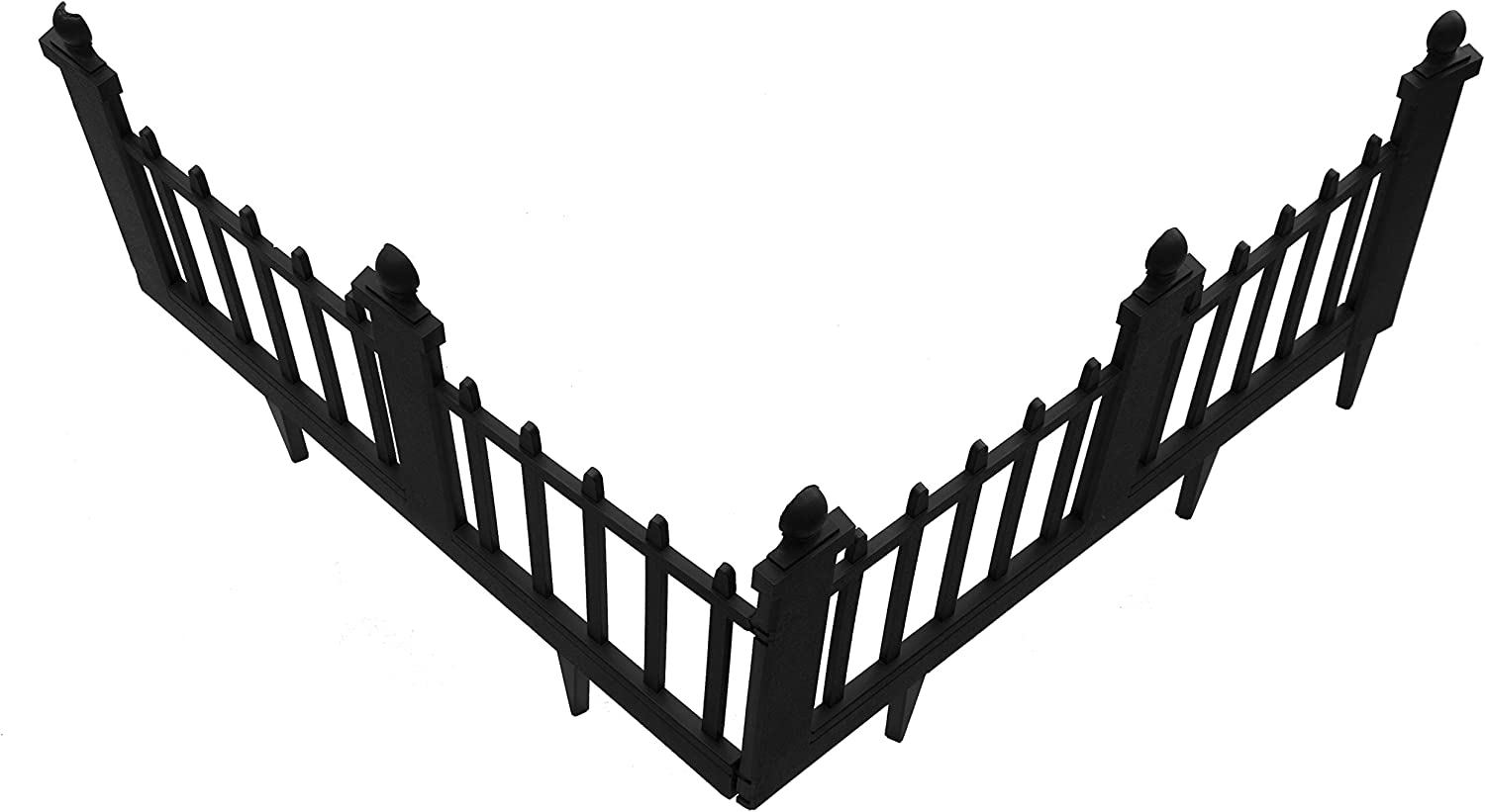 msco Group 2095 Estate Series Deluxe Colonial Poly Fencing White 10-Feet Total Length