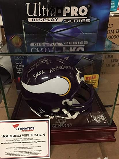 884efbc1c22 Kyle Rudolph Autographed Signed Inscribed Skol Norsemen Vikings Mini Helmet  Fanatics Rare